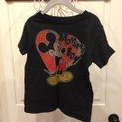 Disney Boys Black Mickey Mouse T-shirt Sz 5t