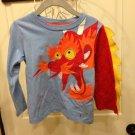 Boys Dragon Long Sleeves T-shirt By Truly Scubpcious Sz 3T
