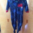 Baby Fleece Sleepwear Dark Blue W/fire Truck Sz 18 M