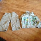Baby Gap Sporty Suit 2Pc Ser Pants Hoodie Sz 6-12M