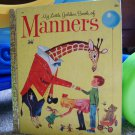 My Little Golden Book of Manners Vintage 1962 #460