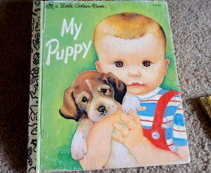 Vintage Collectible Little Golden Book My Puppy Patsy Scarry 1983 50th Anniversary