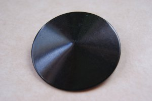 """Large black 2"""" retro vintage celluloid shank button ideal for project"""