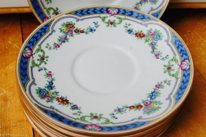 Set of 6 Vintage Mintons Ripon China Saucer Bread Butter Plate