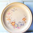 Beautiful Large Round Durastone Serving Platter Plate Mikasa Floral Bazaar