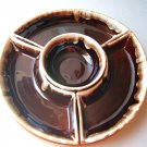 Vintage Pfaltzgraff Pottery Gourmet Royale Brown Drip Lazy Susan USA