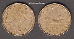 Canada Dollar 1989 - One Loon Dollar coin