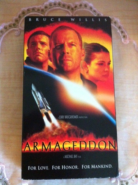 armageddon movie vhs 1998