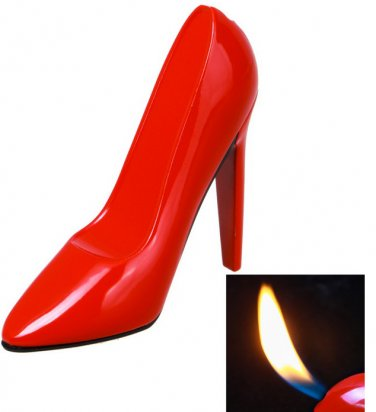 Gas Lighter - High-Heeled Shoe Style - Red - New