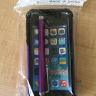 Purple Rugged Rubber Matte Hard Case Cover For SE/5S/5 5c w/Screen Protector w/Stylus Touch pen