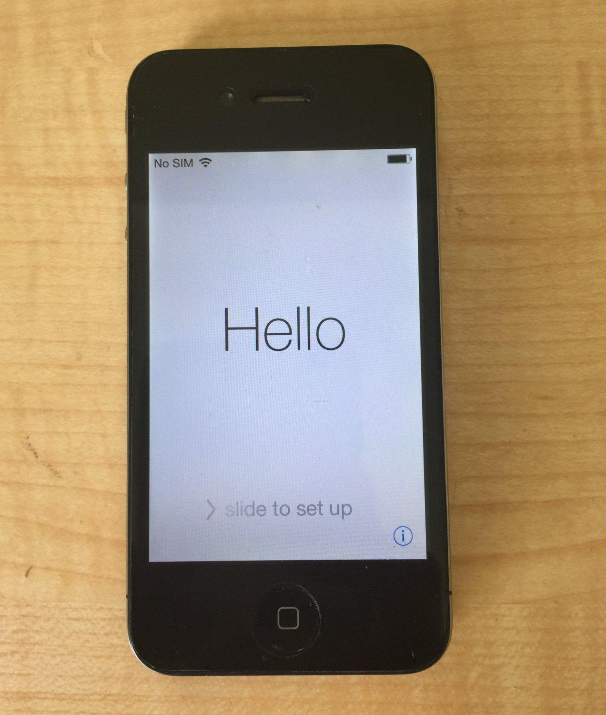Iphone 4 Black Used Apple iPhone 4 - 8GB -...