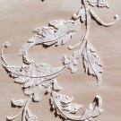 Raised Plaster Acanthus Flourish Wall Stencil, Painting Stencil