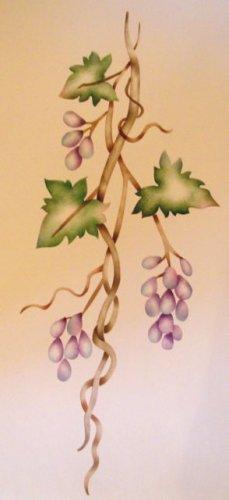 Grape vine Vertical Painting Stencil Wall Stencil
