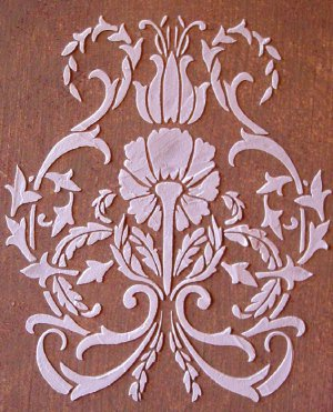 Raised Plaster Floral Damask, Wall Stencil, Painting Stencil