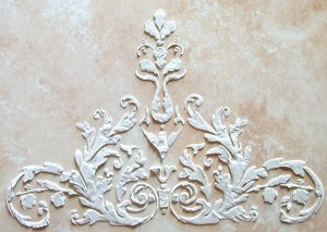 Raised Plaster Laureli Wall Stencil, Painting Stencil