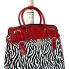 "21"" Computer/Laptop Bag Tote Duffel Carry Rolling 4 Wheel Spinner Luggage Zebra"