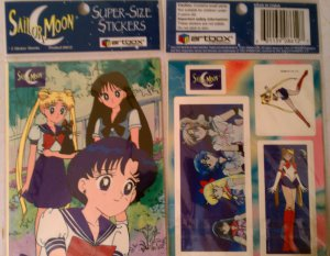 Sailor Moon Super Sized Stickers 2 Pack C