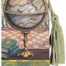 Antique Globe - A Good Book is a Wonderful Journey Bookmarker with Beaded Tassle