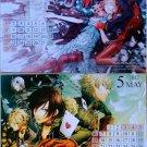 Amnesia B's Log Postcard calendar 4/2012 – 3/2013 (6 double sided)
