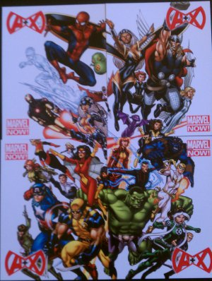 Marvel Now! A + X Promo Card Set of 4