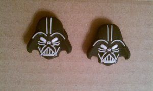 Star Wars Darth Vader Helmet 2pcs Shoe/Croc Jibbitz Charms