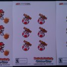 Paper Mario Sticker Star 3 Promo Sticker Sheet Set