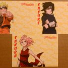 Naruto Way of the Ninja - Ninja Glow Card Complete Set - Naruto, Sakura & Sasuke