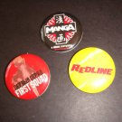 FIRST SQUAD, REDLINE, MANGA starz company promo pins button Comic Con