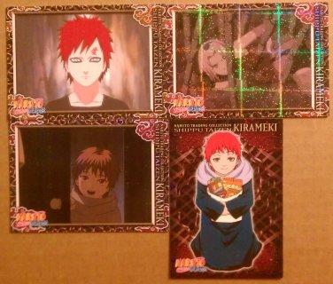 Naruto Trading Collection Shippu Taizen Kirameki 1 Chase + 3 Reg Cards Prismatic