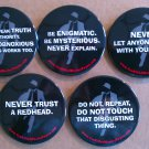 Sean Beaudoin You Killed Wesley Payne Button/Pin Set of 5