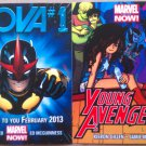 Young Avengers # 1 & Nova # 1 (Marvel Now!) Promo Flyers