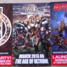Marvel Avengers & Guardians of the Galaxy Promo Flyers set of 3