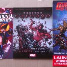 Marvel Comics X-Men, Spider-Man, Guardians of the Galaxy Promo Flyers set of 3