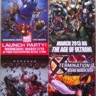 Marvel Comics X-Men, Spider-Man, Guardians of the Galaxy & Avengers Promo Flyers