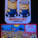 Despicable Me 2 Minions Cardstock Poster & McDonald's Happy Meal Activity Sheet