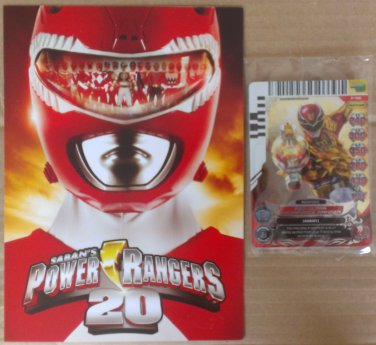 Power Rangers Action Card Game Red Ultra Megaforce Ranger P196 & Flyer