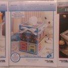 Plastic Canvas Pinwheel, Nursery Tissue Box Covers & Elegant Yuletide Boxes e-patterns
