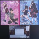 Naruto Stationary Set of 2 Paper Sheets + Clear Envelope
