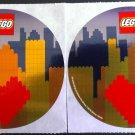 Lego Heart City Sticker Set of 2