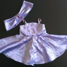 Build a Bear Lavender Satin Dress w/ Shawl