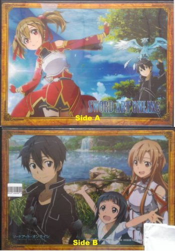 Sword Art Online Double sided Clear File Folder Kirito Silica