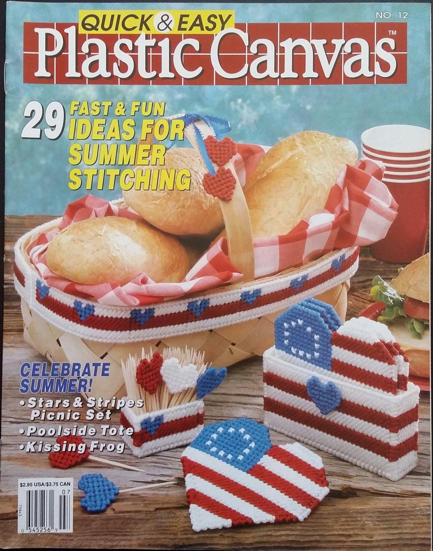 Quick & Easy Plastic Canvas No. 12 Magazine (Jun / Jul 1991)
