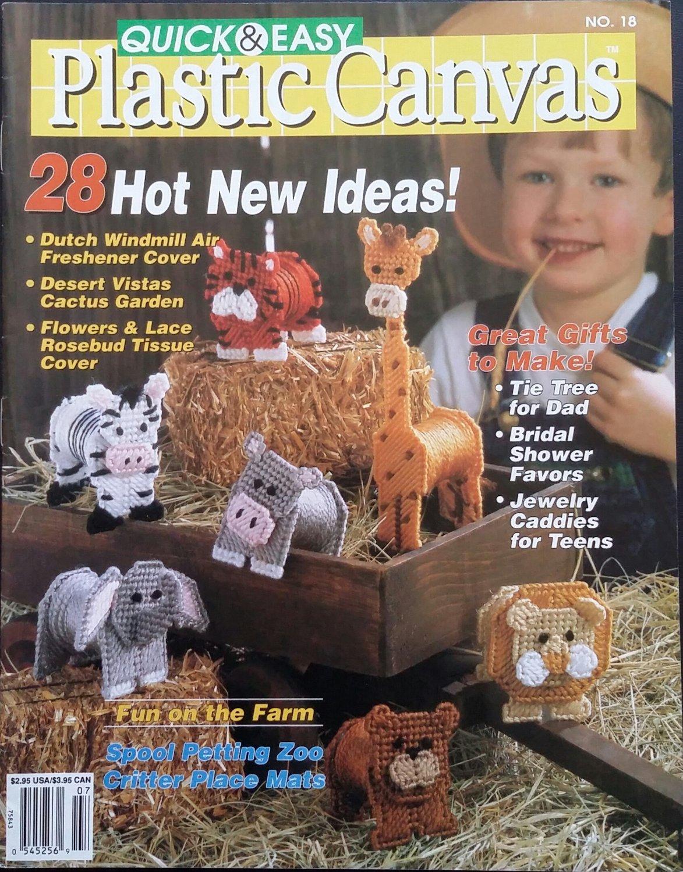 Quick & Easy Plastic Canvas No. 18 Magazine (Jun / Jul 1992)