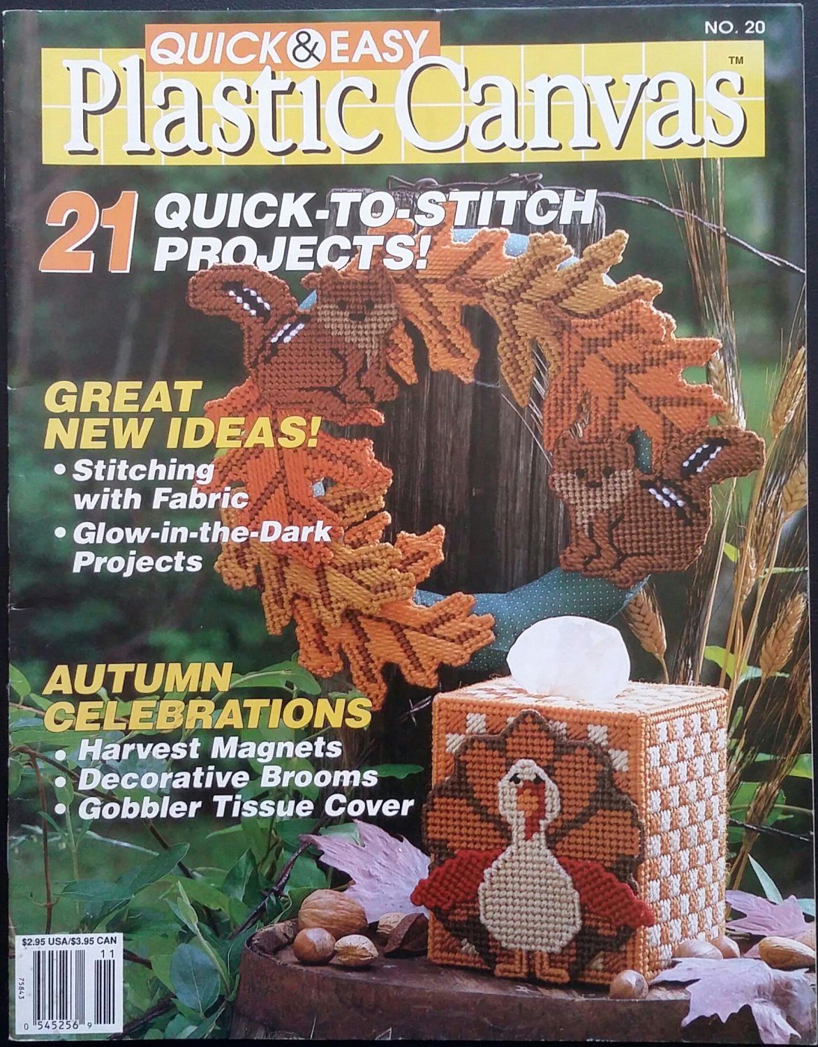 Quick & Easy Plastic Canvas No. 20 Magazine (Oct / Nov 1992)