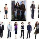 Mattle Barbie Pink Label Collector Series Twilight Saga Complete 15 Doll Set