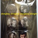Twilight Saga New Moon 6 Button Pin Back Set Sealed