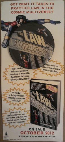 """The Law of Superheroes 2.5"""" Button/Pin"""