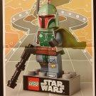 NYCC 2014 Hallmark Keepsake Star Wars Lego Boba Fett Ornament Folded Poster / Pin-up Promo