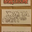 NYCC 2014 Attack on Titan, Heroic Legend Arslan & 7 Deadly Sins Temporary Tattoo Promo Set