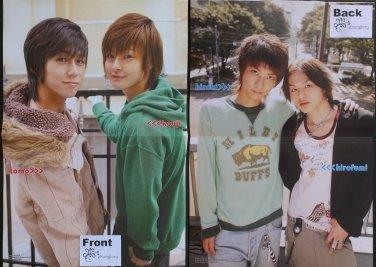 D-Boys Idols: Tomo & Kouji / Hiroki & Hirofumi Double-sided Poster / Pin-up